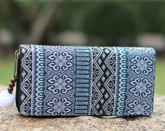 Womens Boho Wallet   Wallet Womens    Purse   Long Wallet     Zipp Wallet   Bohemian Wallet    Vegan Wallet   Hippie Wallet  Gift For Her