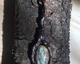 Petrified Wood in Copper Oak Branches