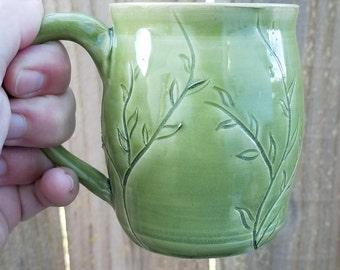 Green Leafy Mug