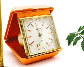 Rare Vintage Goldbuhl West Germany Wind-Up Working Alarm Clock | Goldbühl Folding Clock With Glow in the Dark Clock Hands | Free Shiping