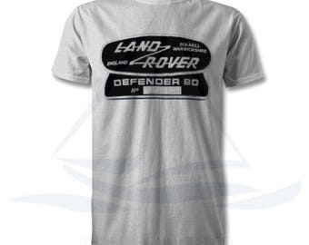 Land Rover Defender 90 Badge T Shirt, Novelty T-Shirt, Cars, Novelty Gift, Defender T-Shirt, Land Rover T-Shirt Adults