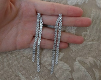 Double Sided Post Earrings Wedding Earrings Bridal Earrings CZ Earrings Bridesmaids Earrings Fashion Earrings Jewelry Chandelier Earrings