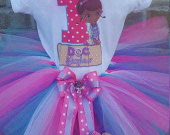 Custom DocMcStuffins Converse, Tutu, and Hairbow - Toddler