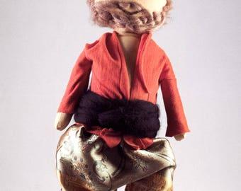 Handmade Russian Cossack Rag doll