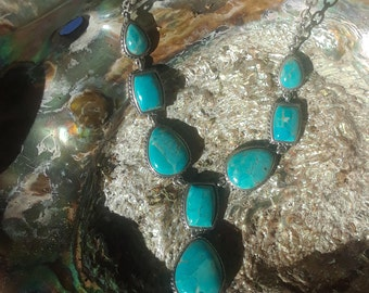 Vintage turquoise and sterling necklace