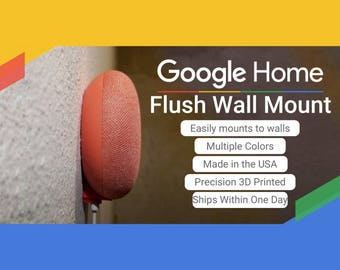 Invisible Flush Wall Mount for the Google Home Mini! Easy Installation! Mounting Screw Included!