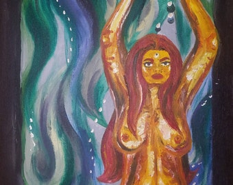 Abstract Woman Painting