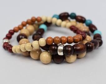 Handmade durable bracelets, set of 3