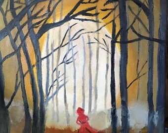 Red in the wood
