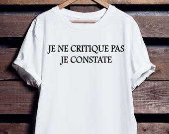I'm not I see. T shirt. Woman. Man.  Franglais. Unisex. 100% cotton t-shirt