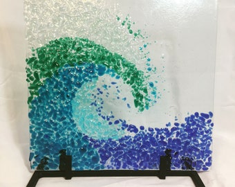 Fused Glass Wave