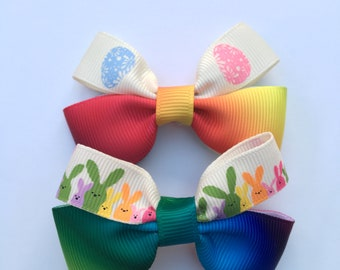 Easter Bow hair clips -set of 2
