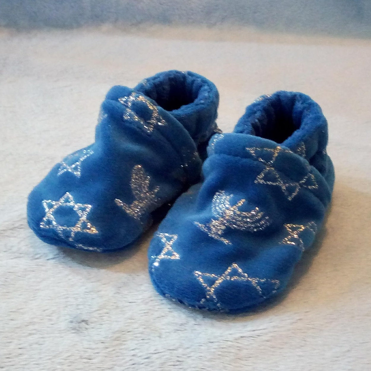 Hanukkah: Soft Sole Baby Shoes 0-3M