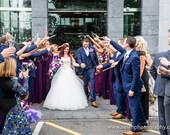 Lavender Wedding Toss Wands - Confetti Alternative  - Outdoor Petal Send Off - Flower Toss - Toss Me Decor - 25 tubes per pack