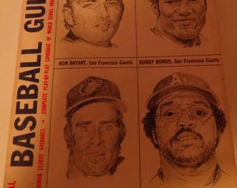 1974 Official Baseball Guide, Ron Bryant, Bobby Bonds, Jim Palme, Reggie Jackson, Baseball Legends,  American League, National League