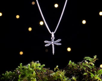 Sterling Silver Dragonfly - Small - (Charm, Necklace, or Earrings)