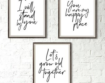 PRINTABLE Set Of Master Bedroom Signs, Master Bedroom Art, I Will Stand By  You
