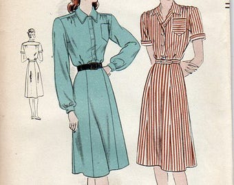 1940s Shirtwaist Pattern - Vintage Vogue 5767 - Bust 44 or 46