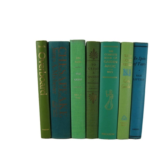 Farmhouse Style Books for Decorating Green Decorative Books