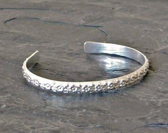 Sterling Silver Bracelet Cuff - Silver Cuff Bracelet - Gift for Her - Silver Open Bangle - Silver Bracelets for Women - Stacking Bracelet
