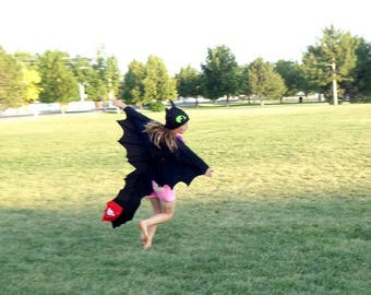 FULL Toothless Dragon Costume Cape and Hat | How to Train Your Dragon | Child | Infant| Adult