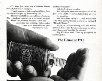 1964 4711 Cologne Magazine Ad: The House of 4711
