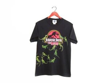 vintage t shirt / Jurassic Park shirt / 90s movie shirt / 1990s Jurassic Park the Ride Dinosaur t shirt Small