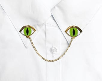 EYES COLLAR PINS - choose your color