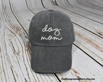 dog mom hat, i love my dog, dog gift, monogram cap, monogram baseball hat, hat with dog, dog lover, gift for dog owner, pet lover