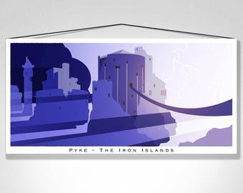 """Castle Pyke - 20"""" x 10"""" Print"""