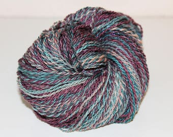 Handspun DK weight yarn, Merino/Silk blend
