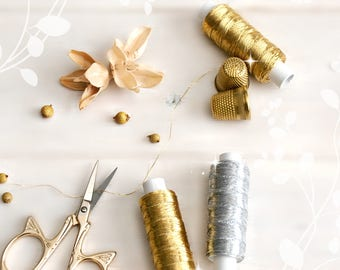 Metallic Embroidery Thread - Metallic Gold Thread - Silver Thread - Metallic Embroidery Thread - Gold Thread - Metallic Lame Threat