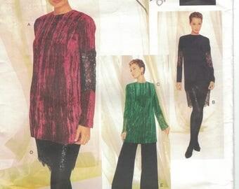 Vogue 1492 Badgley Mischka Size 12 14 16 Dress, Tunic, Skirt, Pants Pattern Uncut