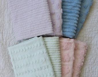 Solid color chenille fabric fat quarters - cut chenille