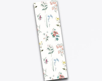 Bookmark with woven flowers.