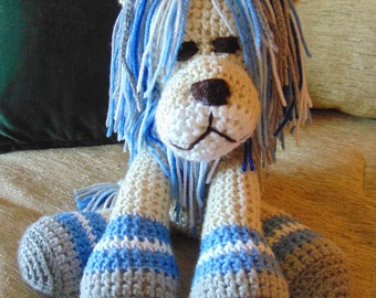 Crocheted lion Detroit Lions stuffed animal doll  toy