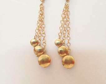 Gold Drop Dangle Earrings