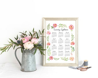 2018 Calendar Wall, Large 2018 Wall Calendar, Year at a Glance 2018 Yearly Planner, 2018 Year Calendar