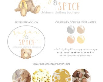 Logo Design Branding, Photography Logo, Small Business Logo, Custom Logo, Logo Design Package, Affordable Logo, Bear Logo, Logo Branding