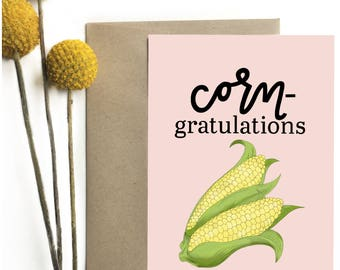 Corn-gratulations - Greeting Card
