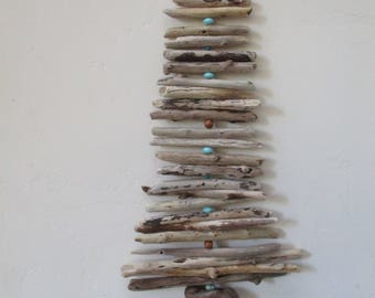 "Garland Driftwood with Bell accent Viking Tree Mobile ""Nautical Theme"""