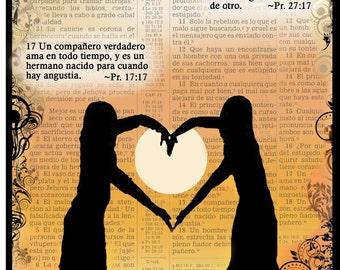 "Espanol Note Card ""Un Compañero Verdadero"" -Scriptural"