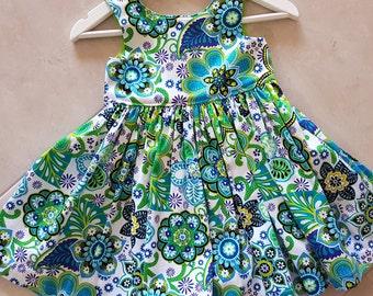 Size 3 dress, Summer dress, toddler dress, girls dress, floral dress, party dress, size 3, cotton dress, tea party dress