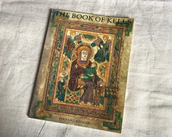 Vintage Book The Book Of Kells By Bernard Meehan 1997 Paperback Thames And Hudson