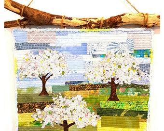 Springtime Apple Orchard PAPER QUILT PATTERN / Quilt Pattern / Quilting Patterns / Gifts for Quilters / Art Quilt Patterns / Tree pattern