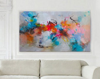 Original abstract acrylic painting, Giclee Print on Canvas, Large wall art canvas, Modern Art Abstract Painting, Living Room Decor, Fine Art
