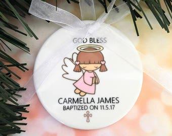 Baptism Ornament, Baptism Ornaments, Girl Ornament, Girl Ornaments, Baby Ornament, Baby Ornaments, Baptism Gift, Christening Ornament