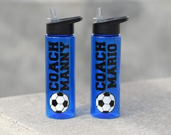 Soccer Gifts - Personalized Soccer Water Bottle - Soccer Team Water Bottles - Soccer Coach Gift - Gifts for Soccer Players - Soccer Mom