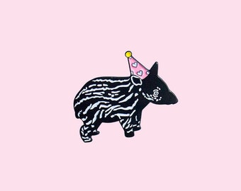 Baby Tapir pin, Tapir pin, Baby Tapir, Soft Enamel, Lapel Pin