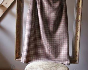 VTG long pencil skirt in tweed, beige pink Paul Mausner made in France VINTAGE 80s Pink Tweed Skirt